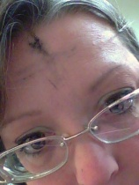 An ash cross (albeit smudged) to remind me that I came from dust and will return to dust.