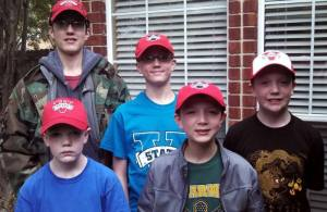 boys in VSU hats - March 2014
